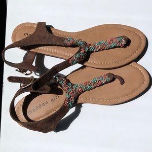 Madden Girl beaded thong sandals